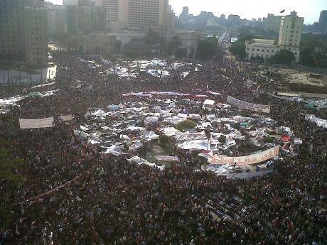 Tahrir Square during February 2011. Mona/wikicommons. Some rights reserved.
