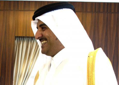 Sheikh Tamim bin Hamad Al Thani, Emir of Qatar. Chuck Hagel/wikimedia. Some rights reserved.