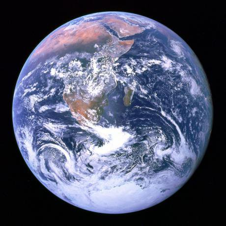 The Blue Marble—Earth as seen by Apollo 17 in 1972. Public domain.