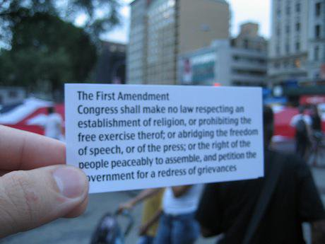 The First Amendment. Critical Mass:Flickr. Some rights reserved.jpg