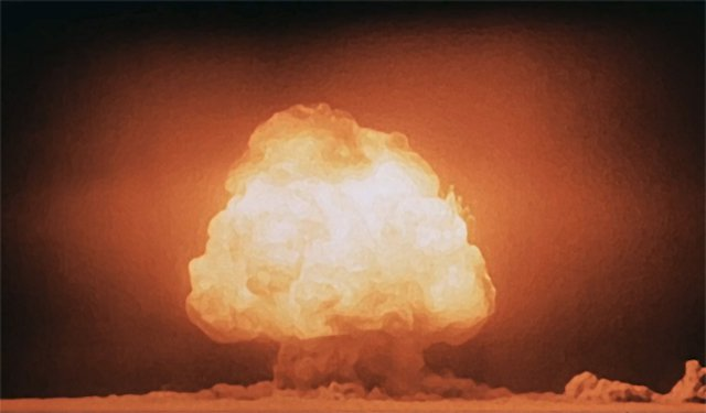 The Trinity test of the Manhattan Project was the first detonation of a nuclear weapon, 1945.