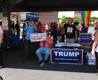 Trump supporters at Bellingham Pride Festival - Bellingham, Washington, 11 July 2016