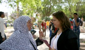 Women's rights activists on the Caravan in Tunisia, 2014