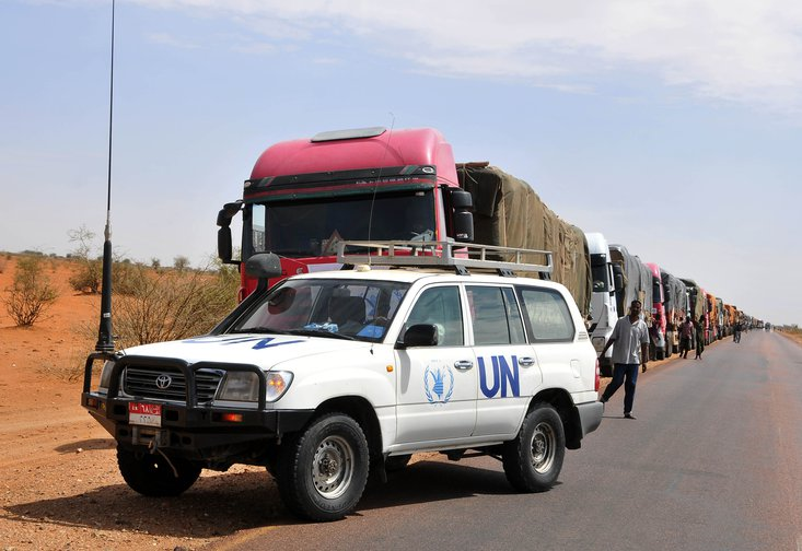 Humanitarian aid convoy, South Sudan.