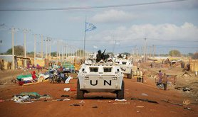 UN Peacekeepers on patrol in Abyei. UN Photo:Stuart Price:Flickr. Some rights reserved.jpg