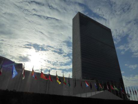 UN with flags