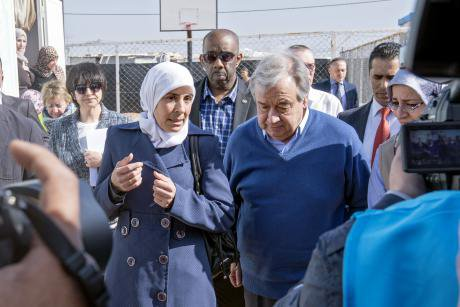 United Nations Secretary-General António Guterres visited the Za'atari refugee camp in Jordan on Tuesday morning, 28 March 2017. UN WomenBenoît Almeras Flick Some rights reserved._0.jpg