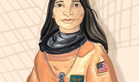 Dr Kalpana Chawla, the first woman of Indian origin to travel into space, in 1997.