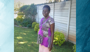 Regina Matadza at home in Harare, Zimbabwe, August 2020. Photo courtesy of Regina Matadza.