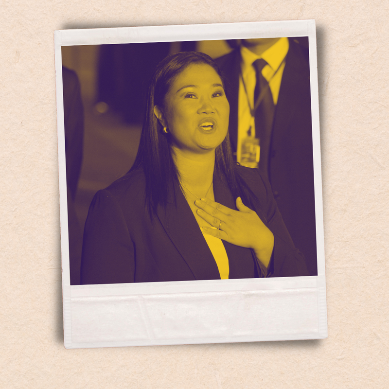 Presidential candidate Keiko Fujimori, leader of the Popular Force party.