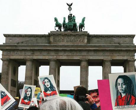 Women's March in Berlin.