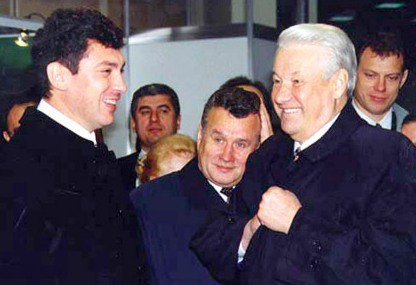 Nemtsov with Yeltsin