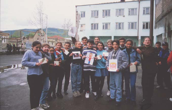 Youth Palace in Tskhinvali with children