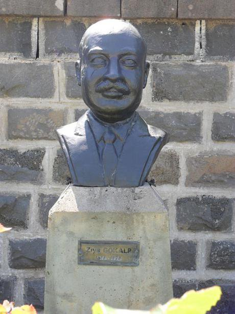 Bust of Ziya Gökalp, founding father of Turkish sociology, Diyarbakir.