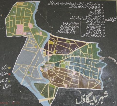 Colourful map of the city