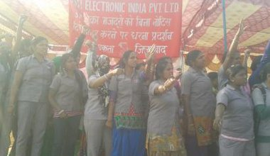 ASTI women workers protest.