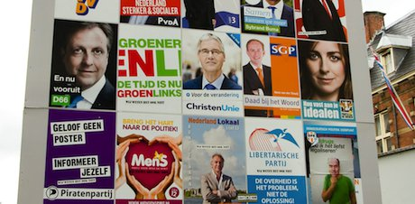 A billboard in Amsterdam. Demotix/Steppeland. All rights reserved.