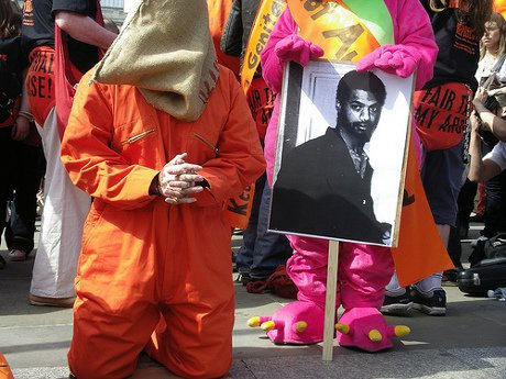Binyam Mohamed protest London 2008
