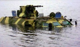 BTR 4 swimming