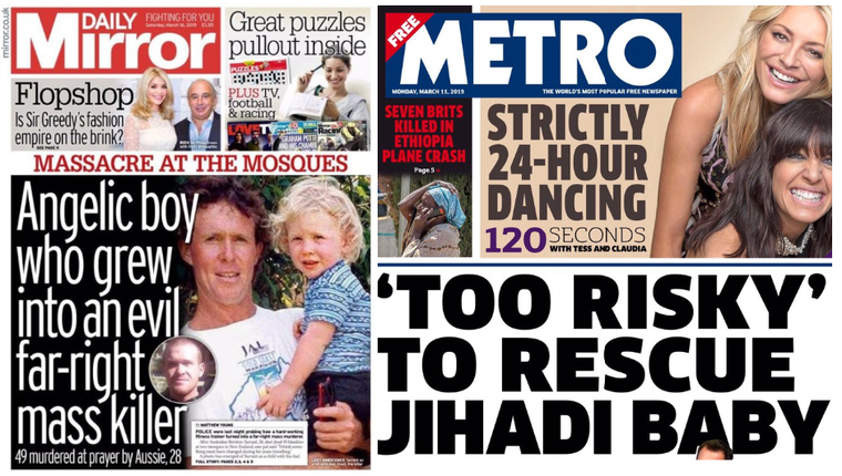 The very different media response to the Christchurch killer and to Shamima Begum