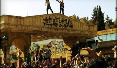 Aleppo university protest, Spring 2012. Courtesy of Syria Freedom Forever