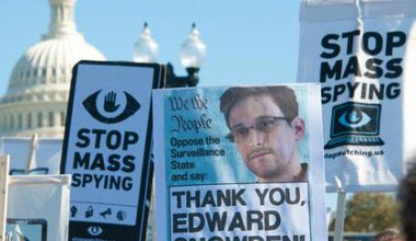 Protest against mass surveillance in Washington DC, October 2013.