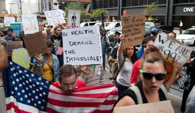 An Occupy Wall Street protest march in New York in 2011.