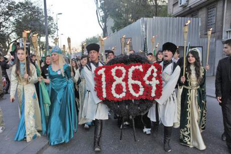 Circassians in Turkey commemorate their ancestors' expulsion from the Russian Empire in 1864. CC Soerfm, 2011