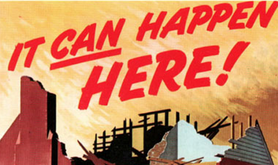 A World War II propaganda poster (detail). Wikimedia Commons. Public domain.