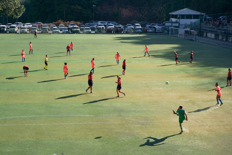 This match between Atlético SC and Petare FC ended 0-0, 3 February 2021. Photo: Yadira Pérez