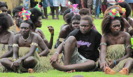 Women in Bougainville on autonomy day celebrations in June 2015.