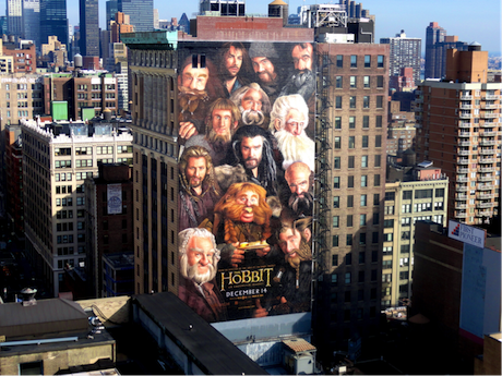 No Frodo, Sam, Merry or Pippin plastered on walls in our own hobbit-land!