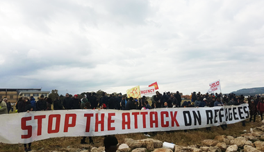 Pro-refugee protest in Sicily, 2018
