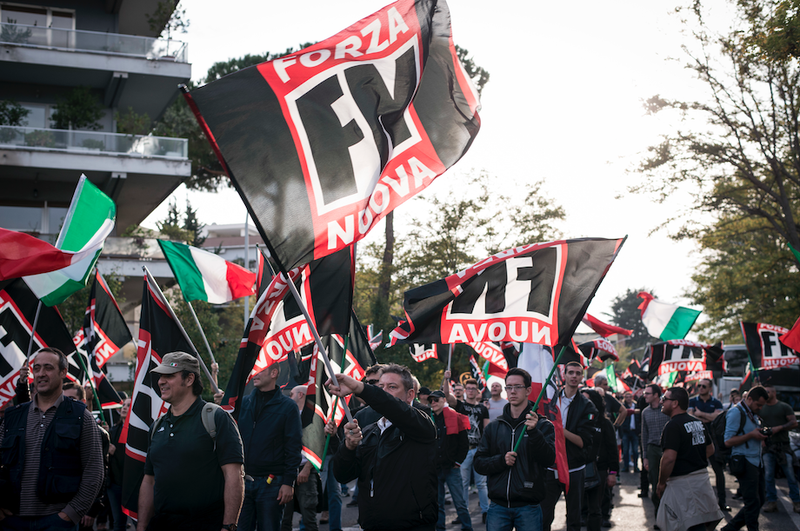 A Forza Nuova demonstration, 2017