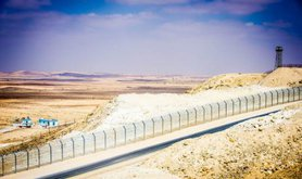 Israeli security fence on Egyptian border