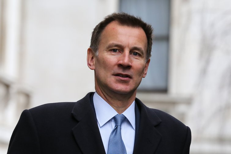 Jeremy Hunt, British Foreign Secretary, outside Downing Street, March 2019