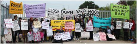 Protest outside Yarl's Wood