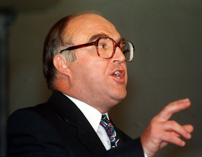 John Smith during his speech to Labour Conference in 1993