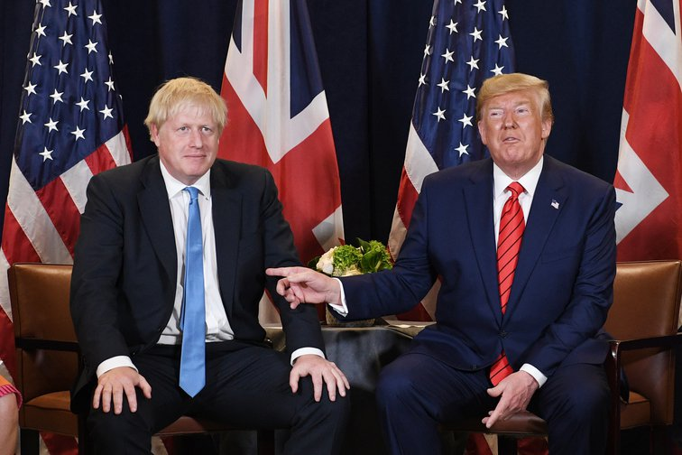 Boris Johnson and Donald Trump meeting at the UN in New York, 24 September 2019