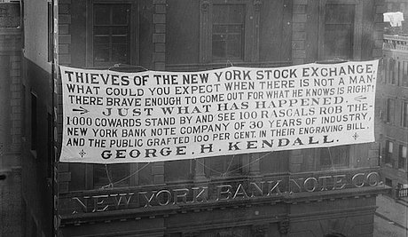 A sign in New York in 1913. Flickr Commons/The Library of Congress. Public domain.