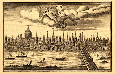 A view of the City of London, dated 1744. Shutterstock/I. Pilon. All rights reserved.
