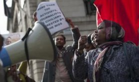 Sudanese Protest Outside London Embassy, 2013 / Lee Thomas
