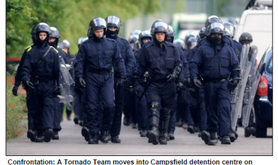 Mail Online, June 2008. A 'Tornado Team' approaching Campsfield