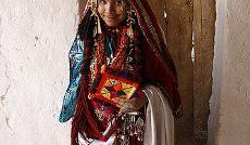 Libyan boy in tribal costume for festival