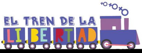 Train logo incorporating text 'El tren de la libertad'