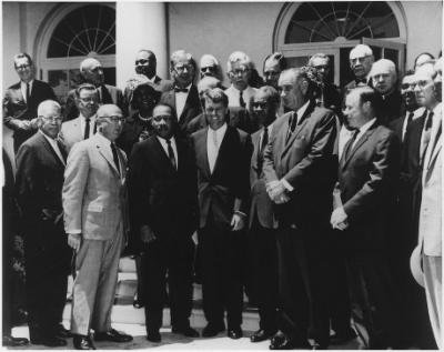 Photograph of White House Meeting with Civil Rights Leaders. June 22, 1963