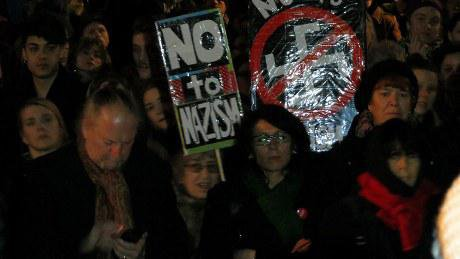 Anti-fascist protest against attacks on Women's Day march in Malmo