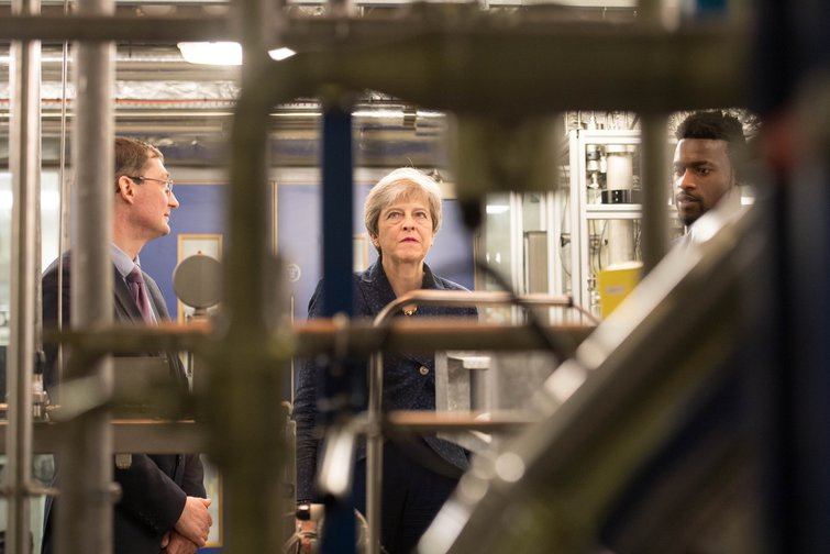 """Theresa May visiting Imperial College to launch her """"Net Zero"""" emissions 2050 target"""