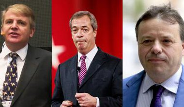 lead Jim Mellon, Nigel Farage, Arron Banks