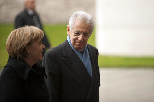 Mario Monti and Angela Merkel meet over eurozone crisis - Berlin